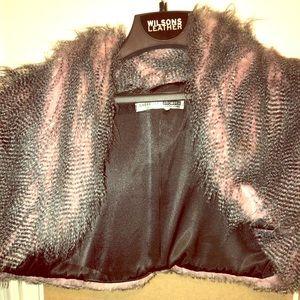Jackets & Blazers - Pink Crop furry vest